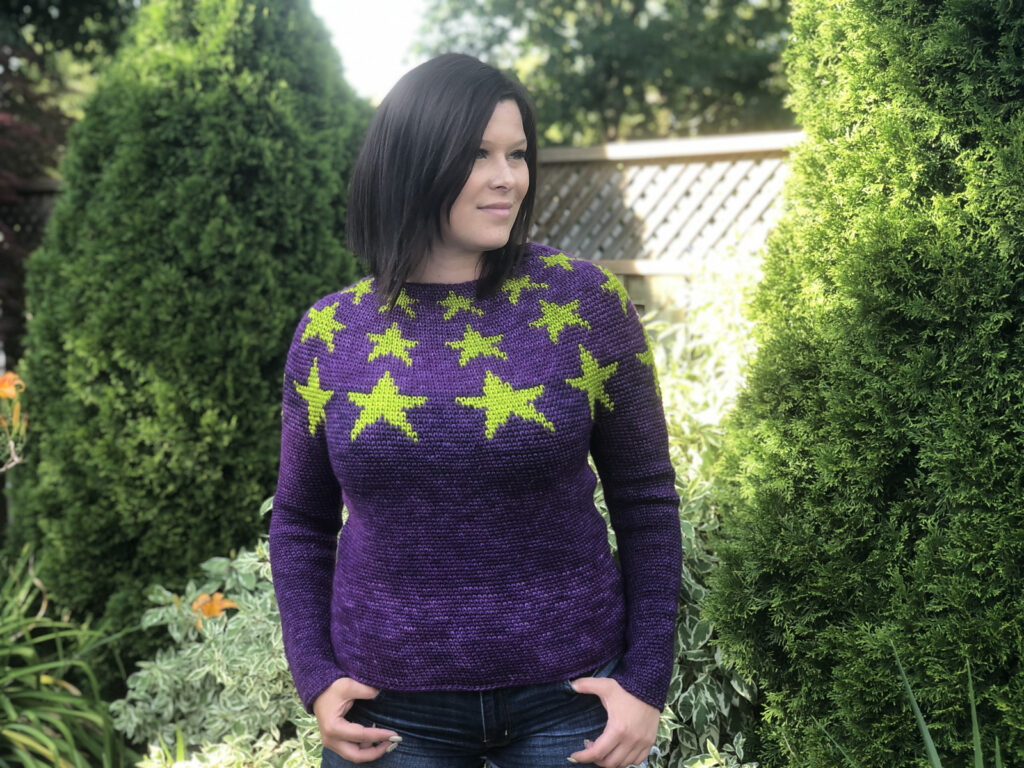 Crochet An All Star Sweater Designed By Stephanie Erin - It's Zippy and Super Cute!