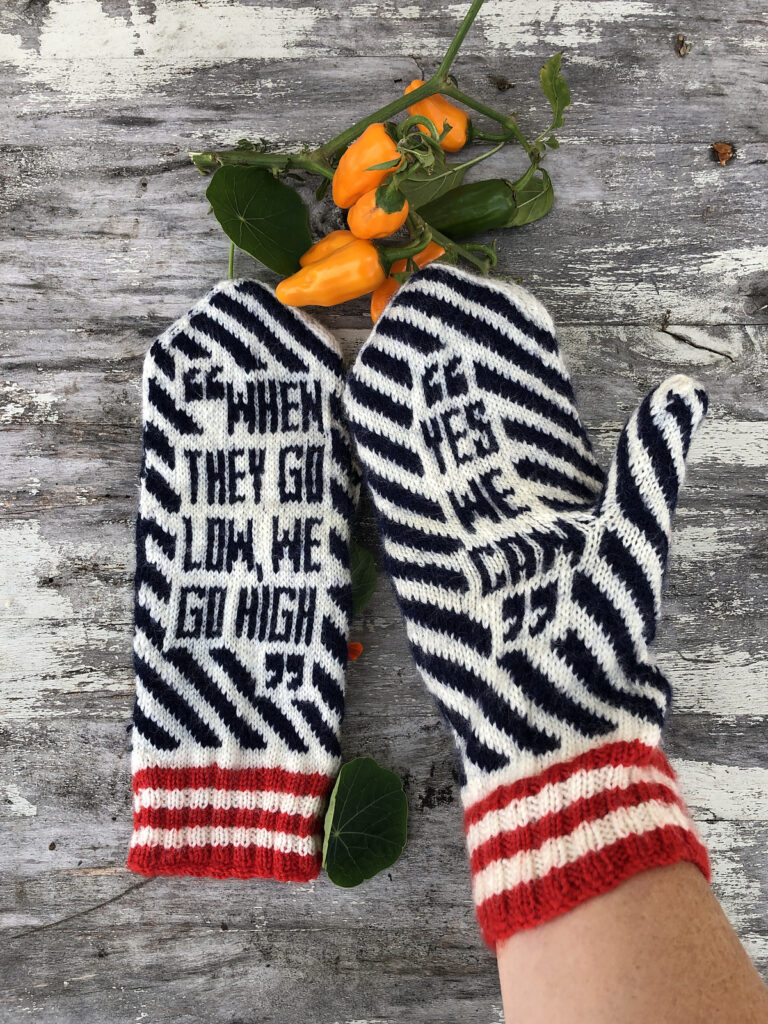 Missing The Obamas? Knit These Mitts Designed By Lotta Lundin ... Yes, We Can!