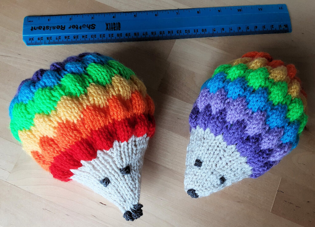 Double Rainbow Hedgehog Across The Sky ... Knit 'Em All The Way, Yeah!