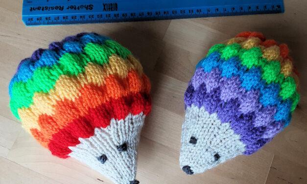 Double Rainbow Hedgehog Across The Sky … Knit 'Em All The Way, Yeah!