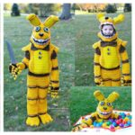 Halloween 2020 With Crochetverse, Cosplay Inspired by Slenderman, Pit Bonnie From FNAF, and Among Us