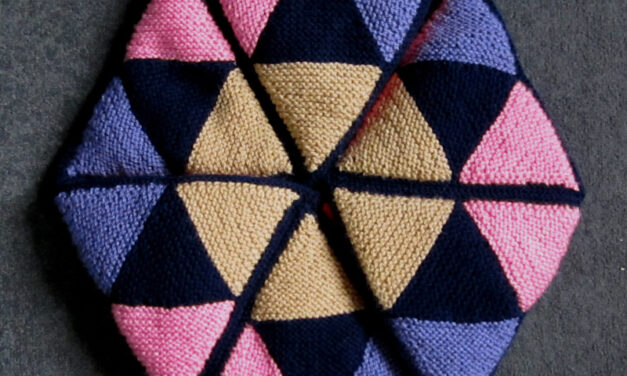Happy Celebration of the Mind Day, The Best Day To Knit or Crochet a Hexaflexagon!