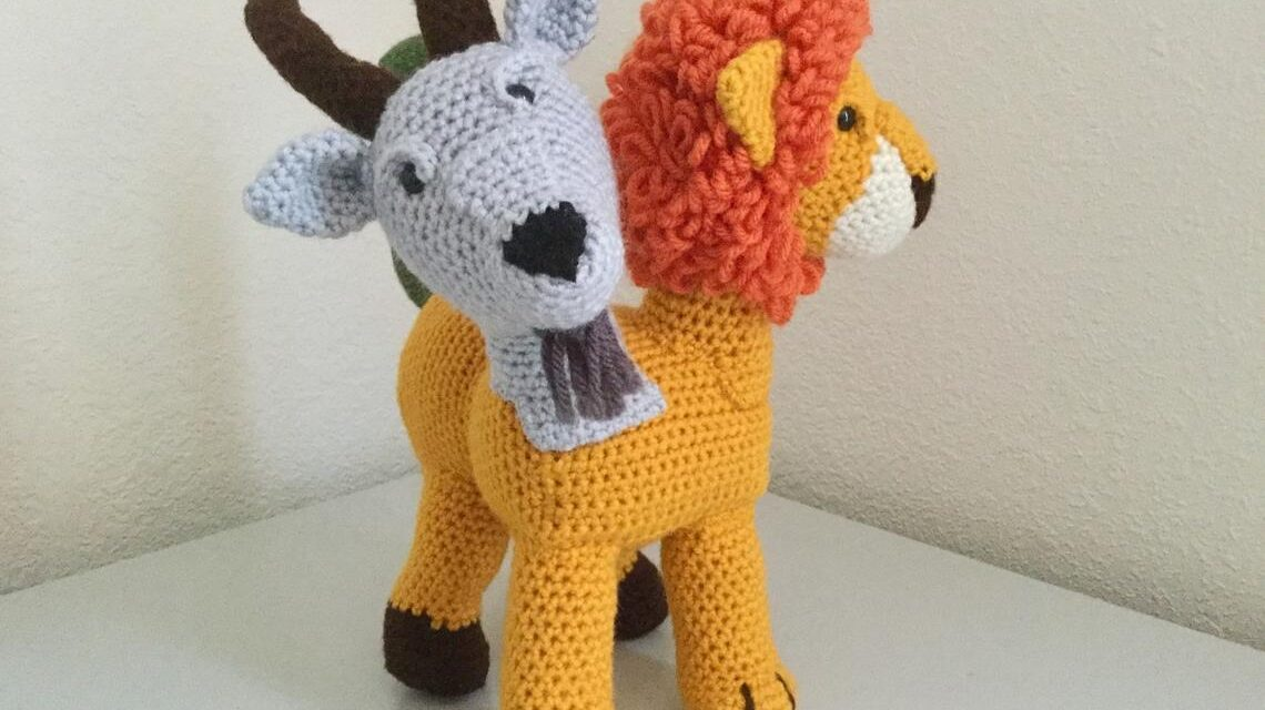 Crochet a Chimera Amigurumi … This Mythological Creature Consists of a Goat Head, a Lion Head and a Snake Tail