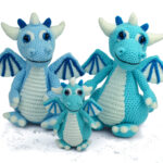 Crochet An Izzy The Ice Dragon Amigurumi Designed By Moji-Moji Design