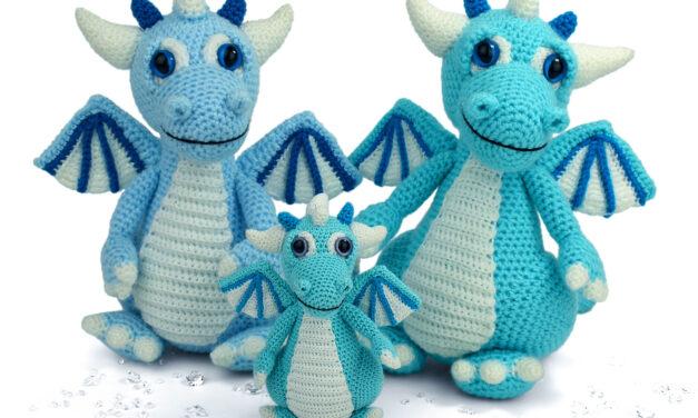 Crochet An Izzy The Ice Dragon Amigurumi Designed By Moji-Moji Design