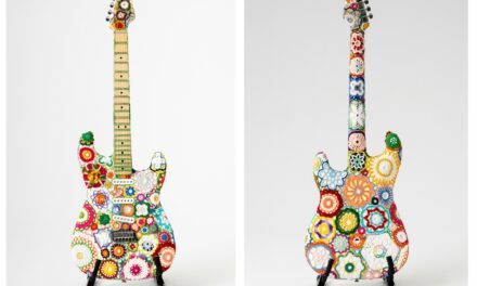 "Meet ""Flower Power"" … A Fender Stratocaster Covered In Crochet By The Legendary Fiber Artist Joana Vasconcelos"