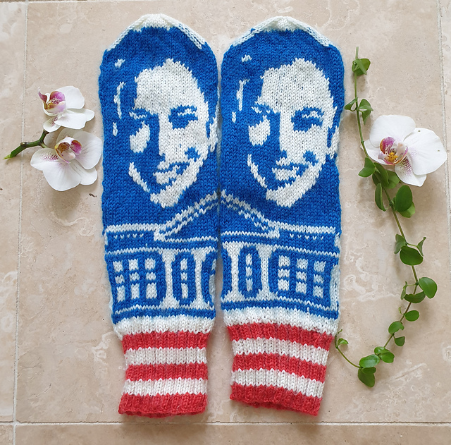 Knit a Pair of Kamala Harris Mittens, Designed By Lotta Lundin