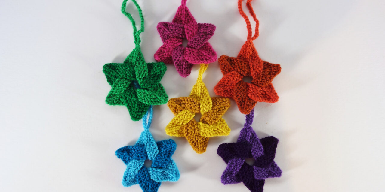 Knit Up a Bunch of These Radiant Woven Stars With a New FREE Pattern From The Fabulous Frankie Brown!