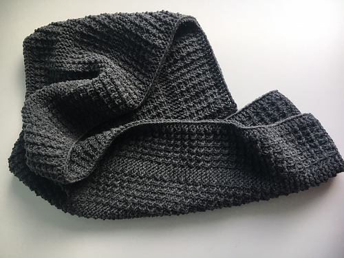 Free Pattern Alert! Knit a 'Dudester Scarf' Designed By Jana Pihota … This Is One CLASSY Scarf!