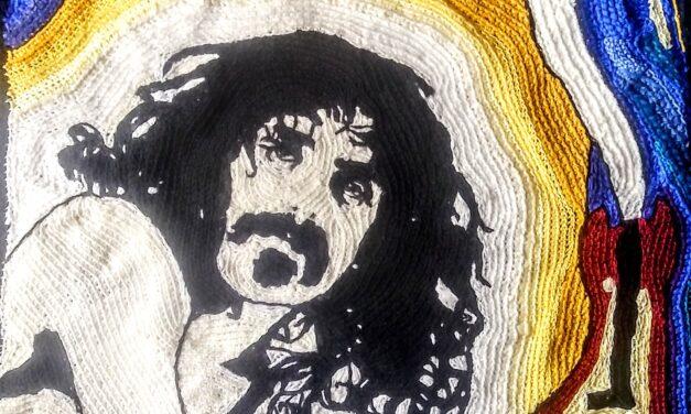 Fantastic 'Frank Zappa' Portrait, Freeform Crochet By Rita Cavallaro