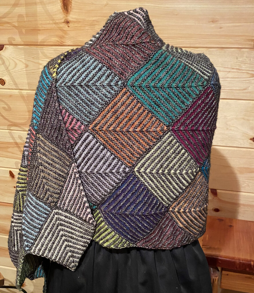 Handsome and Aptly Named, Knit a 'Solitude 2020' Shawl Using Mitered Squares