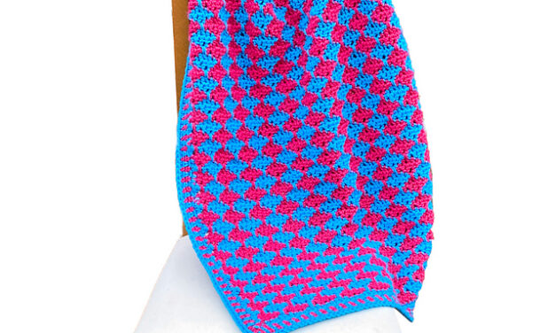 Crazy Colorful! Crochet an Electric Bubblegum Blanket Designed By Pia Thadani