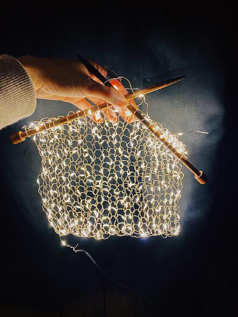 Knitting With Lights … Who Needs Yarn?