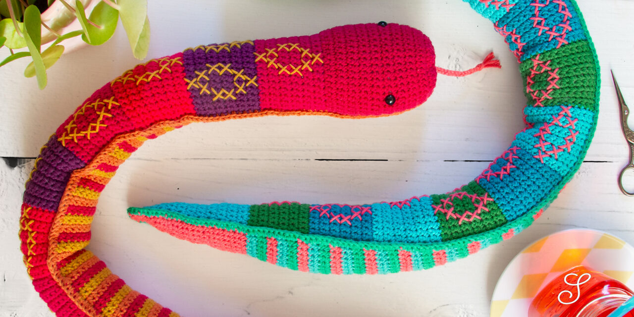 Crochet A Set Of Sibling Snakes, Perfect Pattern Designed By Simy's Studio