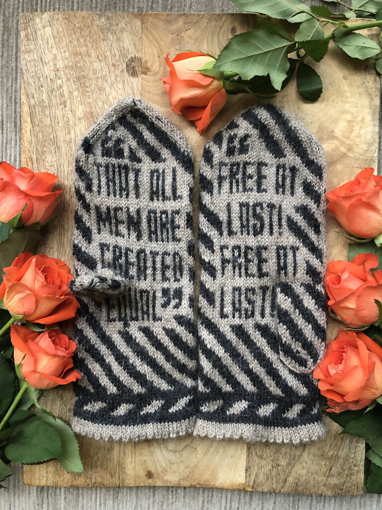 Knit a Pair Dr. Martin Luther King Jr. Mittens, Designed By Lotta Lundin