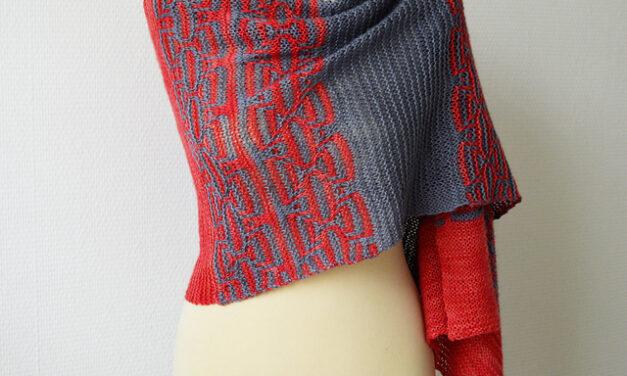 Knit a Gorgeous Garter Stitch 'Keten' Shawl Designed By Susanne Visch