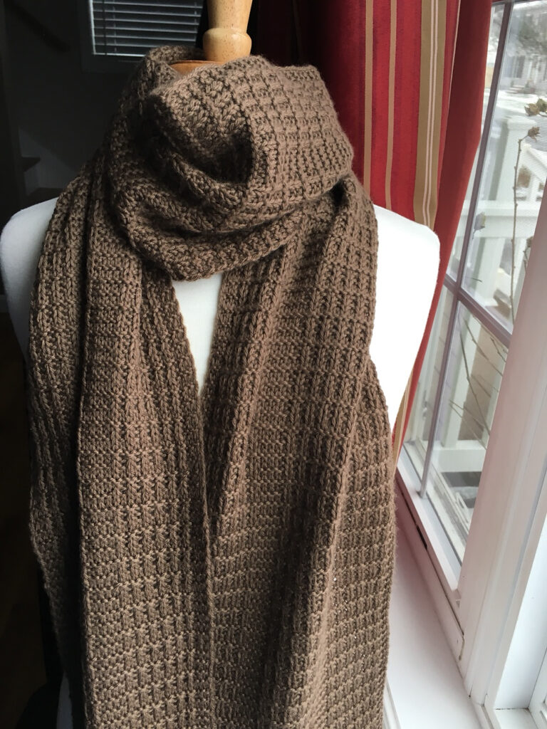 Free Pattern Alert! Knit a 'Dudester Scarf' Designed By Jana Pihota ... This Is One CLASSY Scarf!