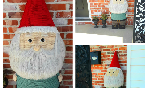So big! Crochet a Giant Garden Gnome For Your Home … He's 4 Feet Tall!