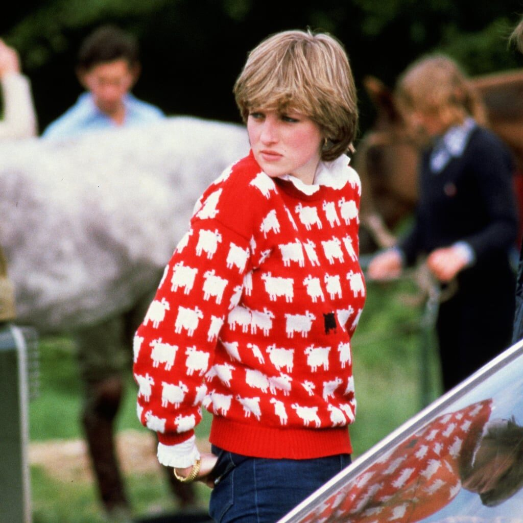 Knit Princess Diana's Iconic Black Sheep Sweater and Support Doctors Without Borders!