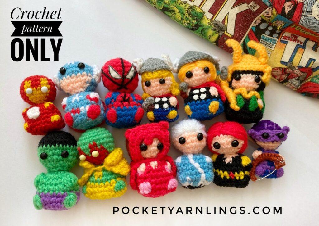 Cute Amigurumi Patterns By Huipei Zhang ... She Calls Them Pocket Yarnlings ... Quick Gift Alert!