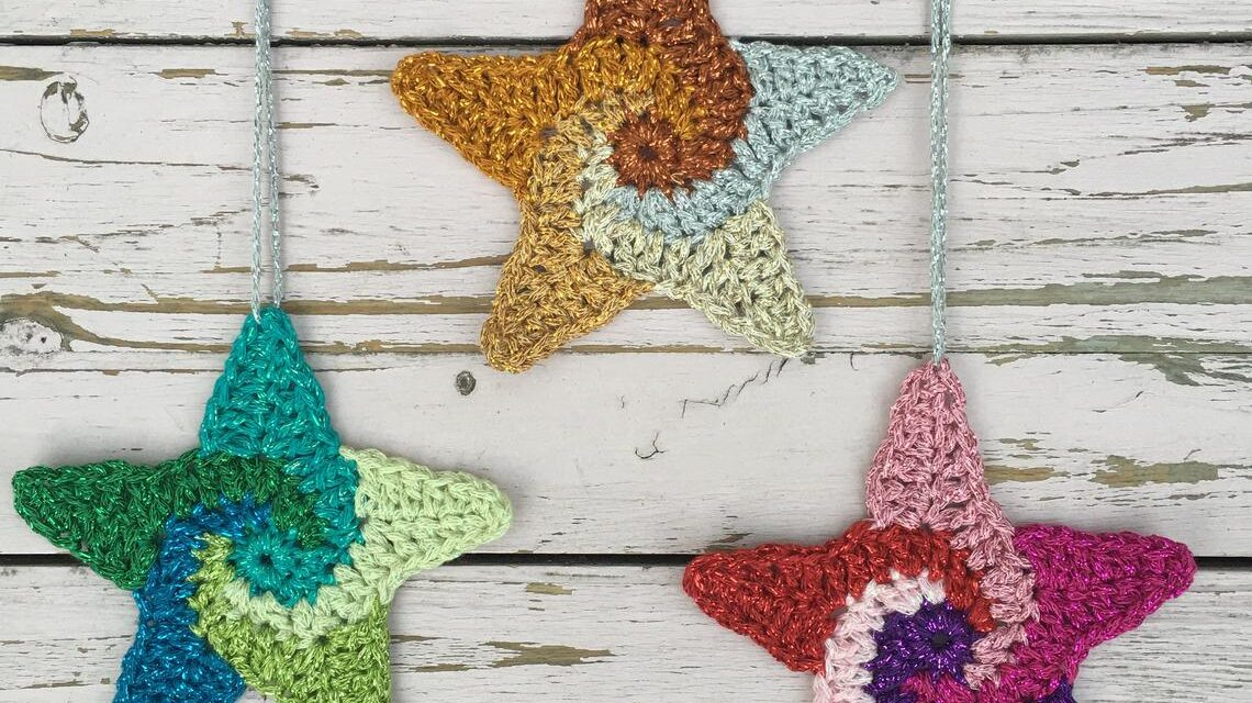 We Are All Made Of Stars … You'll Want To Crochet These Spectacular Swirly Stars To Infinity and Beyond!