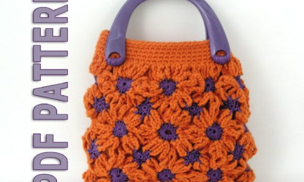 Crochet This Funky, Fun, Flowery Handbag … The Color Combos Are Endless!