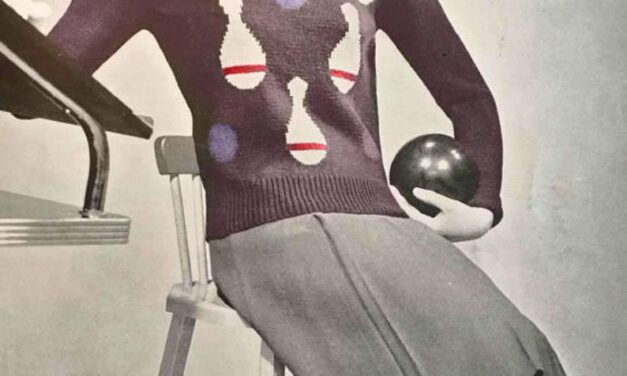 This Vintage 1940s Bowling Sweater Pattern Will Knock Your Retro Socks Off!