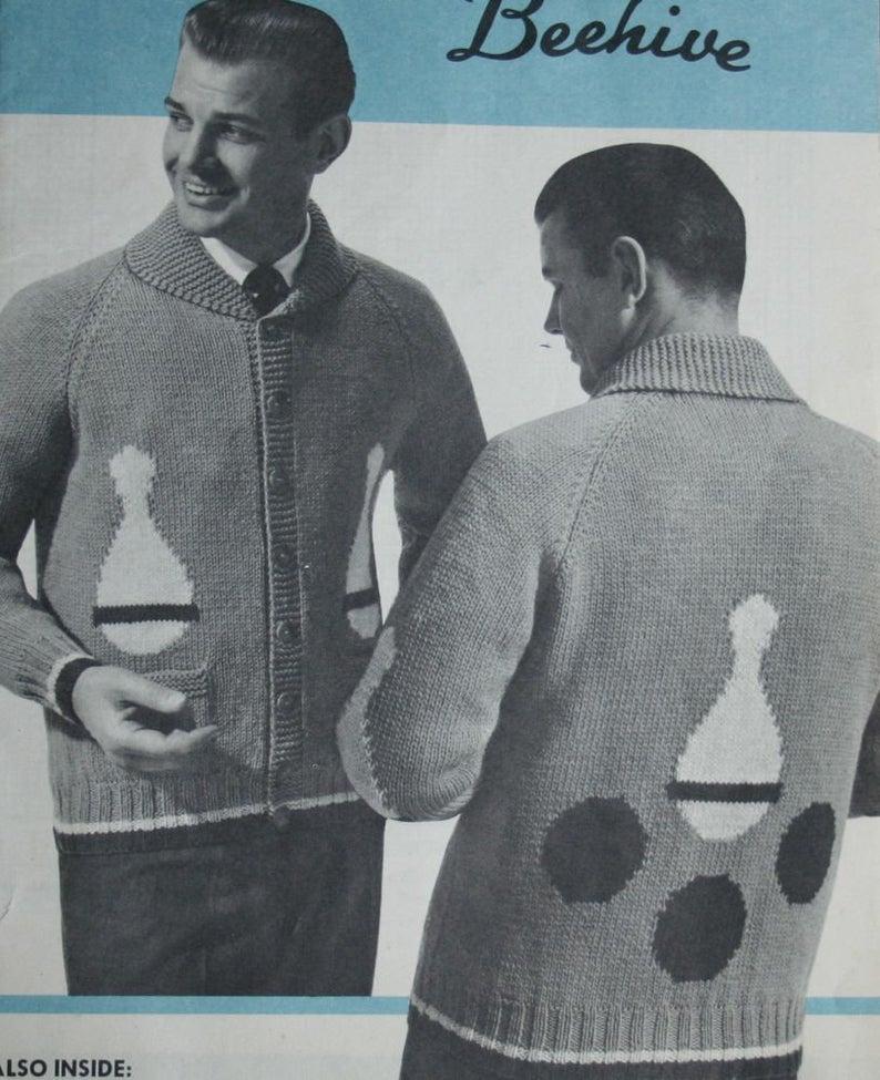 vintage bowling sweater patterns
