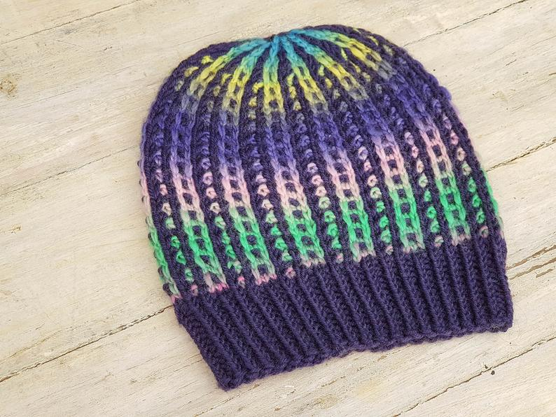 Knit Hat Patterns By Alma of Seven To Heaven
