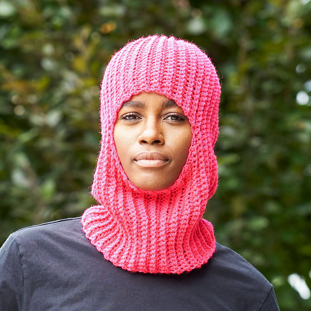 It's Beauty Is In Its Simplicity! Knit a Practical Ribbed Balaclava for Adults With a Free Pattern From Red Heart!