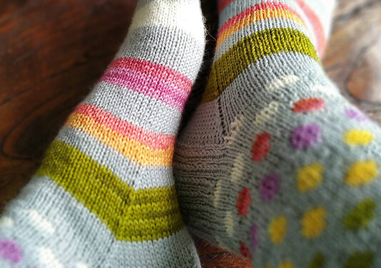 Fabulous and Free … You'll Want To Cast On These 'Hot Spots and Stripes' Socks Without Delay!
