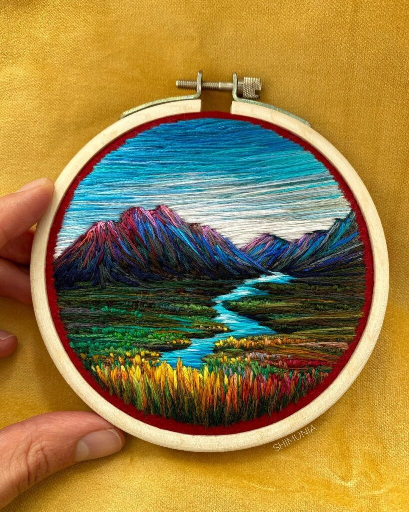 If You're Not Following Embroidery Artist @shimunia on Instagram, Why The Heck Not!