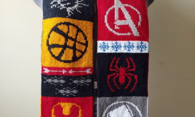 Knit a Marvel-ous 'Marvel at this Scarf', Double-Knit Design By Tess Campbell