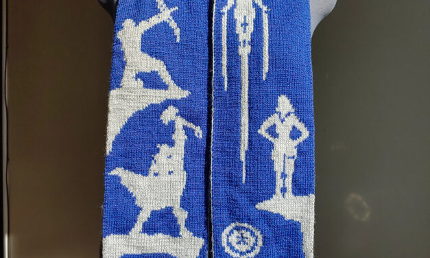 Knit An Avengers Assemble! Scarf, Double-Knit Design By Tess Campbell