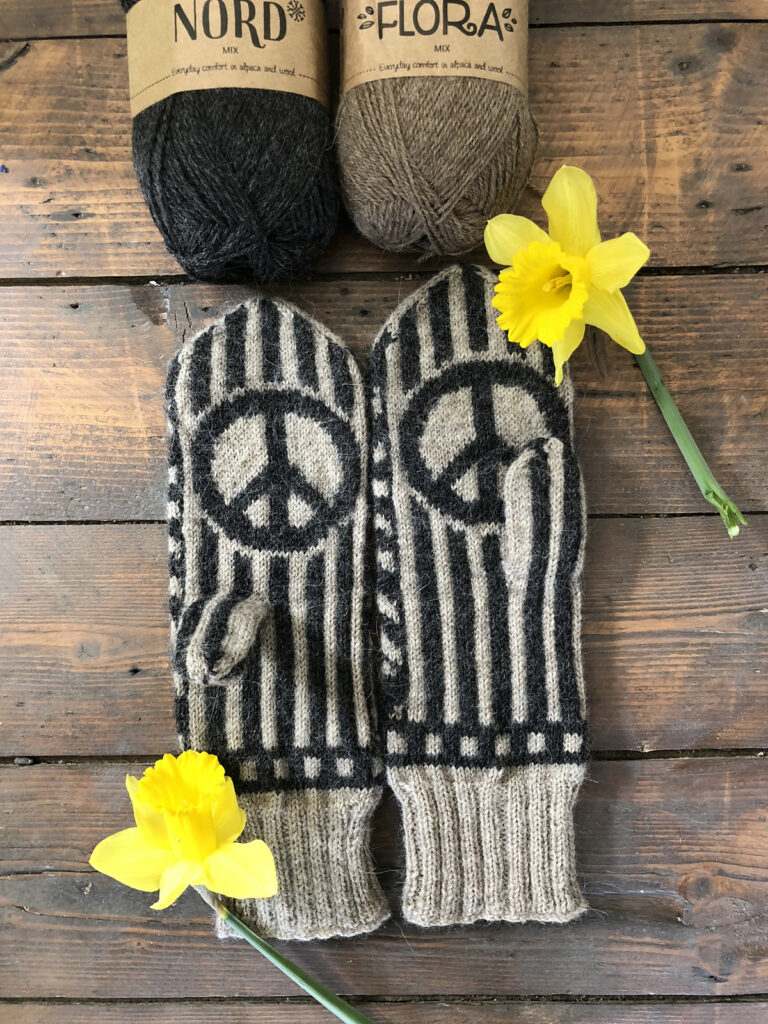 Knit a Pair of Jimi Hendrix Mittens Designed By Lotta Lundin