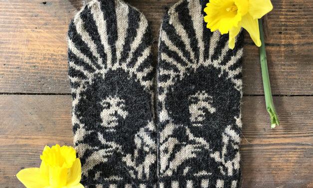 Knit a Pair of Jimi Hendrix Mittens Designed By Lotta Lundin