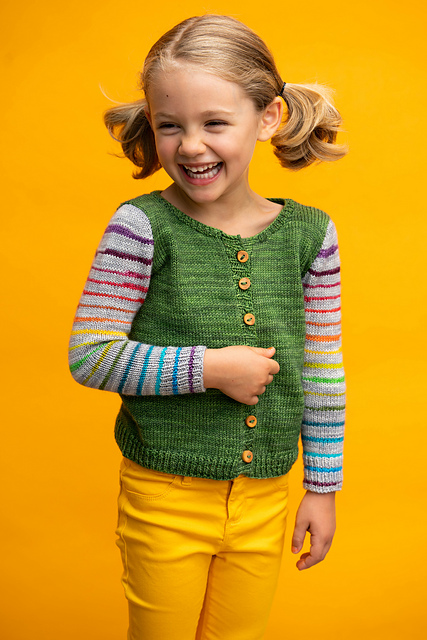 Designer Spotlight: Colorful Patterns From The New Book, 'Knit Happy with Self-Striping Yarn: Bright, Fun and Colorful Sweaters and Accessories Made Easy'