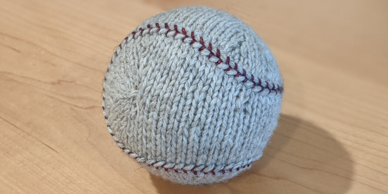 Knit A Fairly Accurate Baseball … Looks Very Realistic To Me!