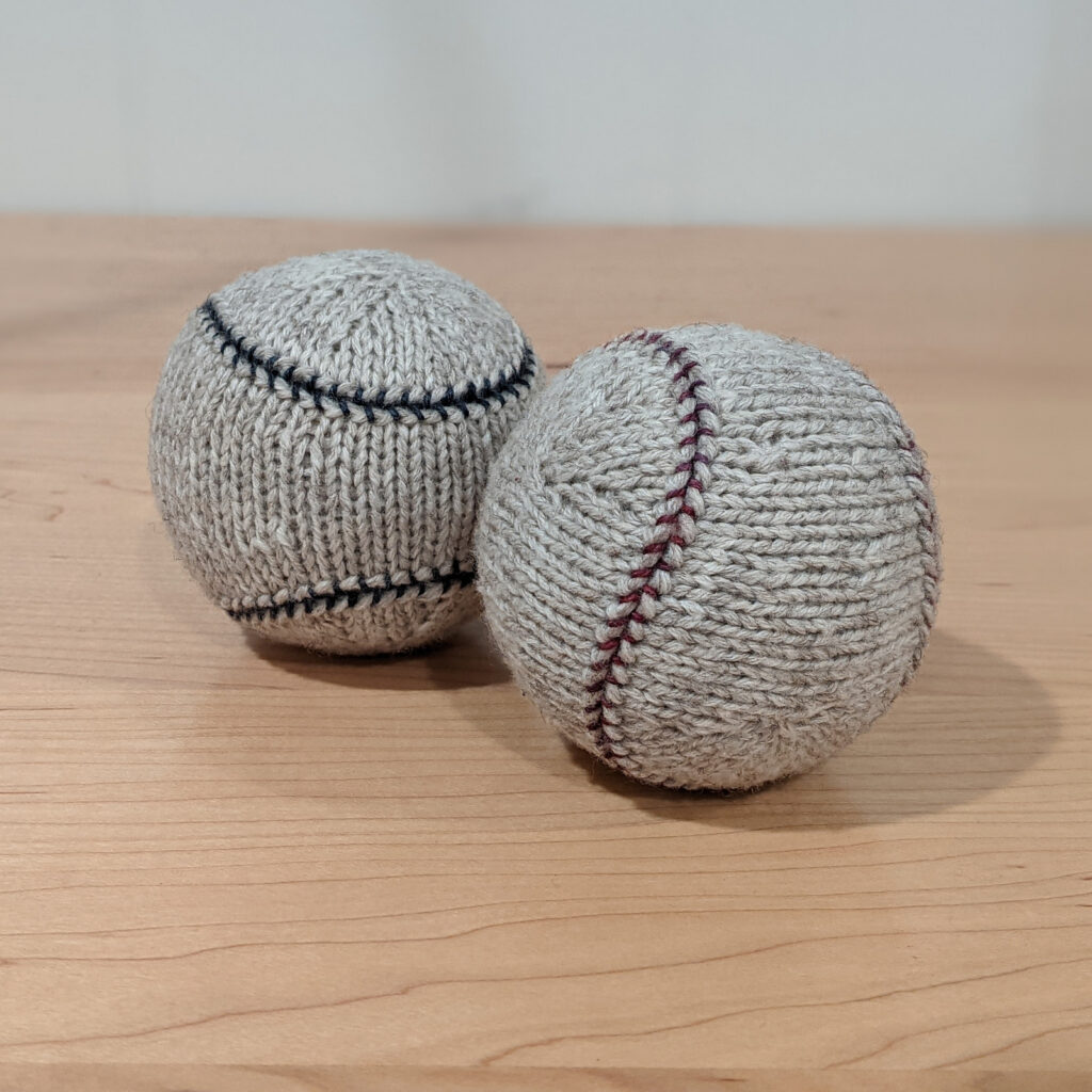 Knit A Fairly Accurate Baseball ... Looks Very Realistic To Me!