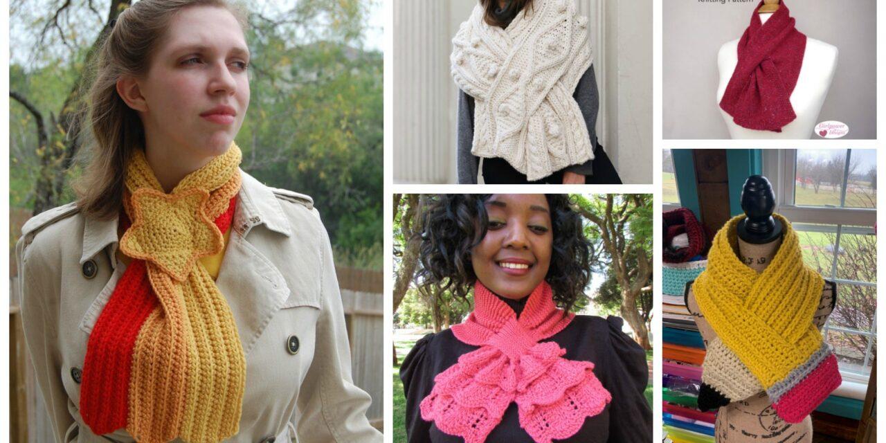 The Best Keyhole Scarf Patterns For Knitters & Crocheters Who Appreciate Wearable Art