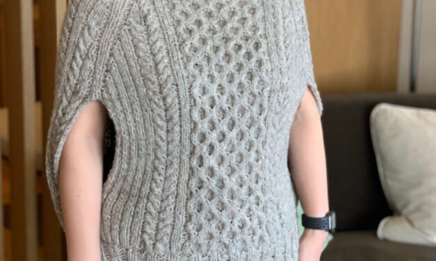 Knit a Miyako Poncho For Yourself In The New Year … It's Unique & Perfect For a 2021 Reboot!
