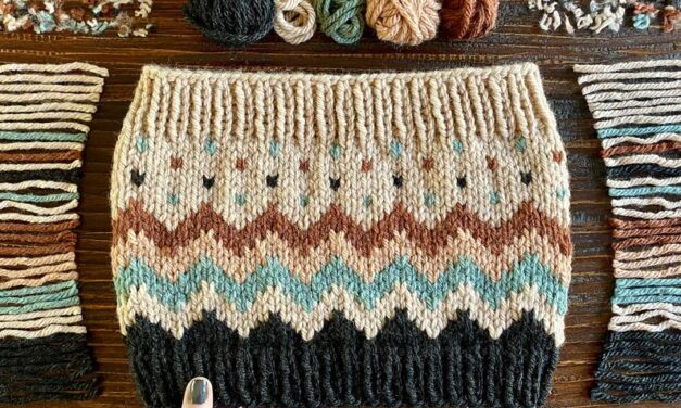 This 'Scraptacular Cowl' Is The Knitting Pattern We All Need Right Now, Hello Perfect Stashbuster