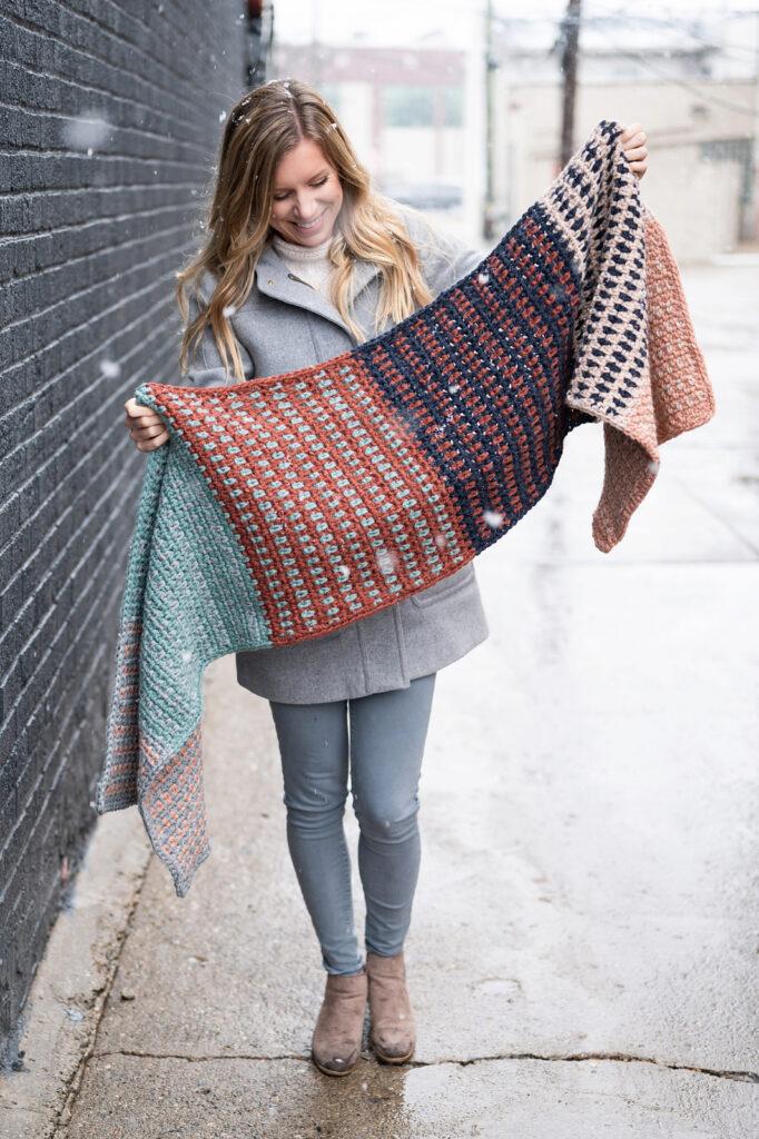Crochet An Oversized Chunky Blanket Scarf ... Love It! Maybe Inspired By Lenny Kravitz?