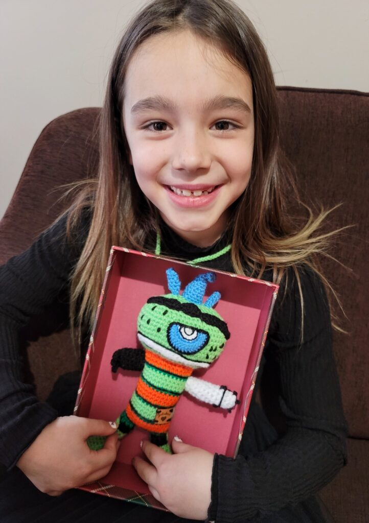 Juliebee Duguay Transformed Her Granddaughter's Drawing Into a Spectacular Amigurumi For Christmas!