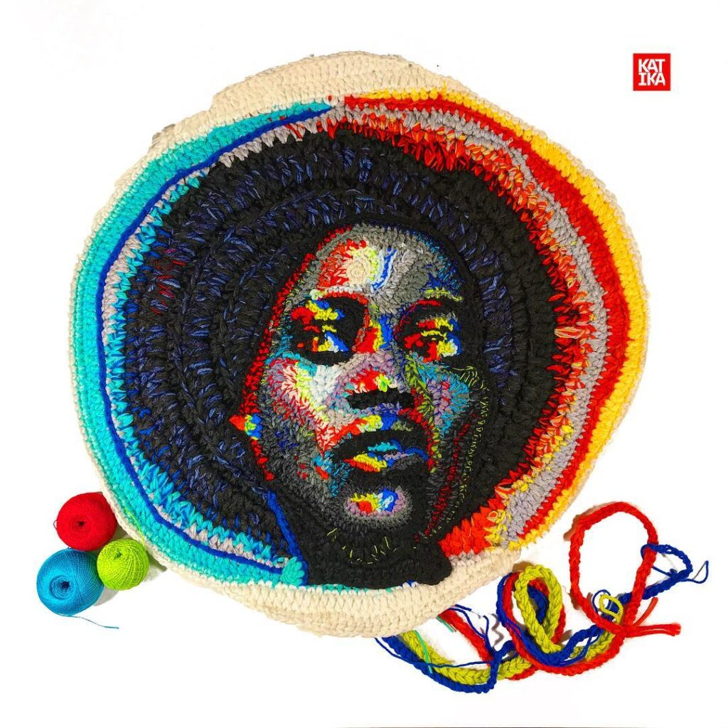 Katika's Crochet Portrait of Lupita Nyong'o Is Off The Hook – Literally! From The Artist's RGB Polarization Series ...