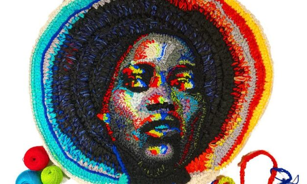 Katika's Crochet Portrait of Lupita Nyong'o Is Off The Hook – Literally! From The Artist's RGB Polarization Series …