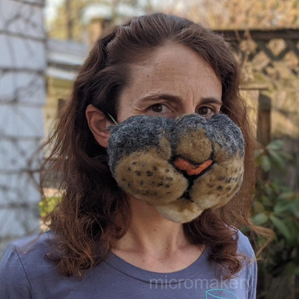 A Most Impractical Mask Felted By Rachel Nador of Micromakery ... I Love It!
