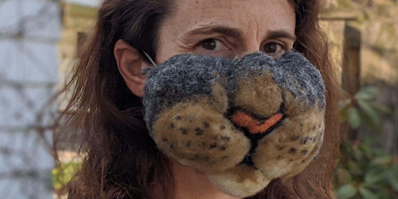 A Most Impractical Mask Felted By Rachel Nador of Micromakery … I Love It!