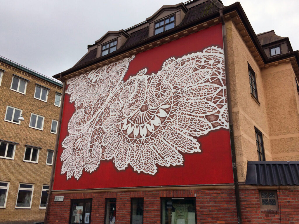 Traditional Lace Patterns Rendered In Spray-Paint By Polish Artist NeSpoon