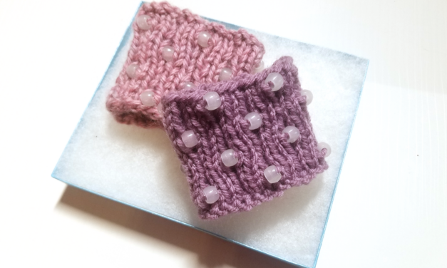 Knit a Beginner Beaded Cuff, Get The Pattern or Kit – Changes Color In The Sun!